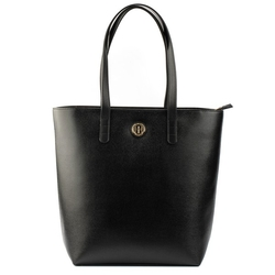 - Active Long Deri Kadın Alışveriş Çantası Siyah