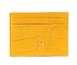 - Croco Deri Kredi Kartlık Sarı