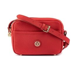 - Deri Kırmızı Kadın Çapraz Çanta