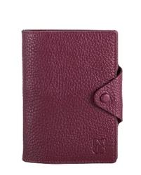 - Bordo Pasaportluklu Deri Cüzdan