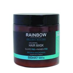 Rainbow - Rainbow Dökülen Saçlar için Güçlendirici Bakım Maskesi 500 ml Biotin & Macadamia