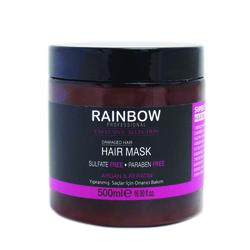 Rainbow - Rainbow Yıpranmış Saçlar için Saç Bakım Maskesi 500 ml Argan & Keratin